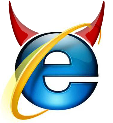 Internet Explorer is the devil. Graphic by Ricky Salsberry
