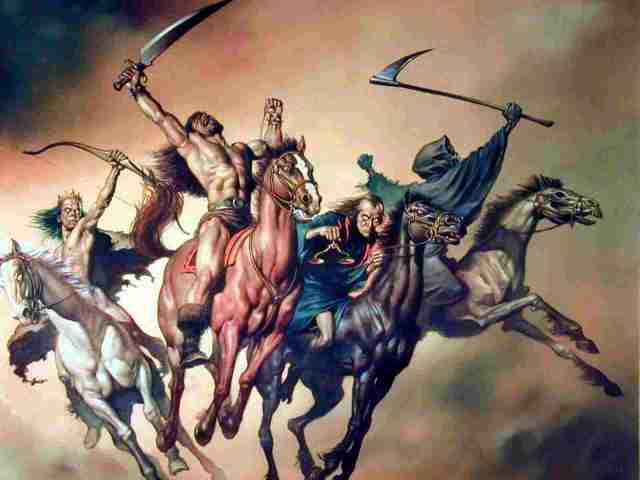 Boris Vallejo's - The Four Horsemen Of The Apocalypse