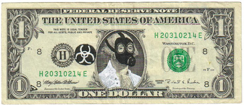 gas mask dollar