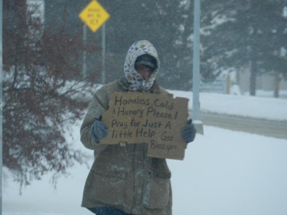 Homeless Seeking Help