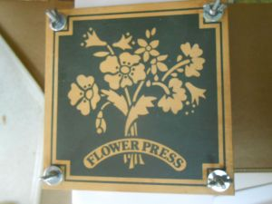 Bought Flower Press