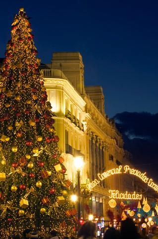 Christmas Tree at Puerta del Sol in Madrid