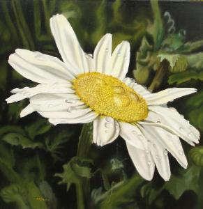 Daisy painting by Delmus Phelps from easy-oil-painting-techniques.org