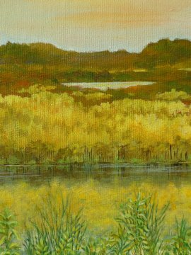 """""""Yellow Landscape"""" © Bettye Shēly All Rights Reserved"""