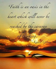 Kahlil Gibran Faith